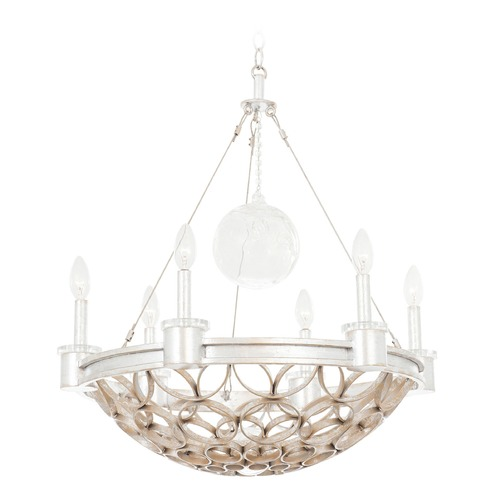 Kalco Lighting Kalco Loveland Gold Silver Leaf Pendant Light 501770GSL