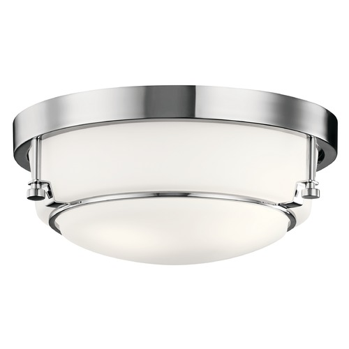 Kichler Lighting Transitional Flushmount Light Chrome Belmont by Kichler Lighting 44088CH