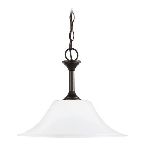 Sea Gull Lighting Sea Gull Lighting Holman Heirloom Bronze LED Pendant Light with Bowl / Dome Shade 65806EN3-782