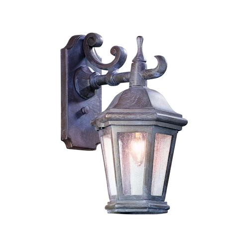 Troy Lighting Outdoor Wall Light with Clear Glass in Antique Bronze Finish BCD6890ABZ