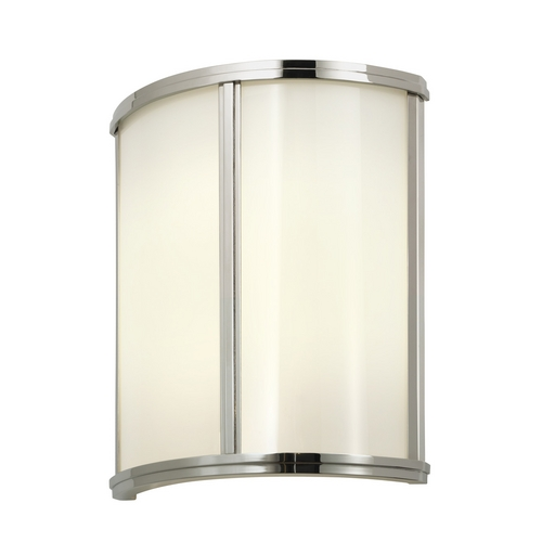 Sonneman Lighting Sconce Wall Light with White Glass in Polished Nickel Finish 1990.35