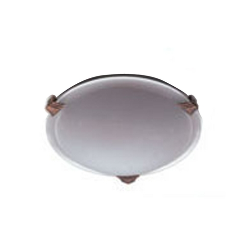 PLC Lighting Modern Flushmount Light with White Glass in Polished Brass Finish 6512 PB