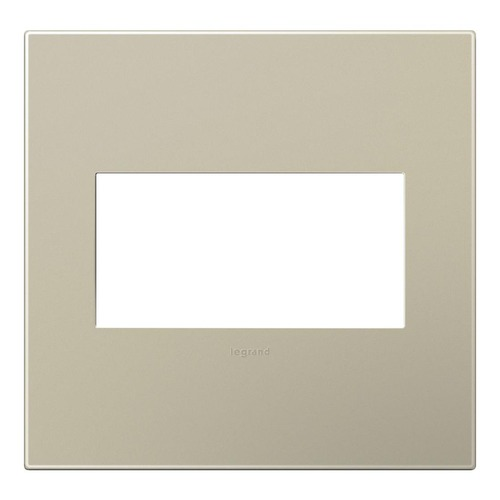 Legrand Adorne Legrand Adorne AWP2GTM4 Two-Gang Wall Switch Plate Cover in Titanium AWP2GTM4