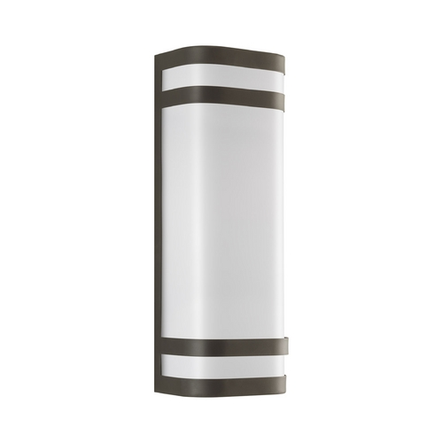Progress Lighting Progress Modern Outdoor Wall Light with White in Antique Bronze Finish P5806-20
