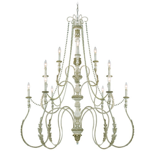Jeremiah Lighting Jeremiah Zoe Antique Linen Chandelier 27312-ATL