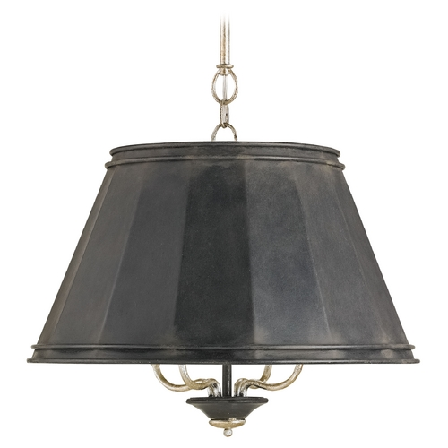 Currey and Company Lighting Currey and Company Lighting Black Smith Pendant Light with Empire Shade 9345