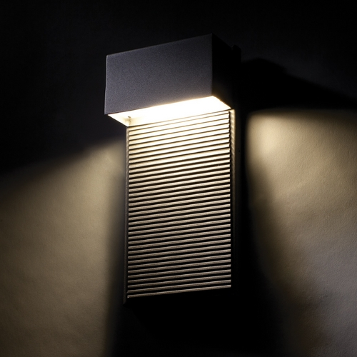 Modern Forms by WAC Lighting Modern Forms Hiline Black LED Outdoor Wall Light WS-W2308-BK