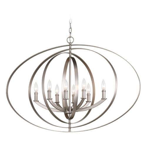 Progress Lighting Progress Lighting Equinox Burnished Silver Pendant Light P3791-126