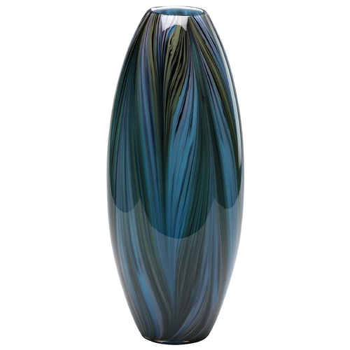 Cyan Design Cyan Design Peacock Multi Colored Blue Vase 02920