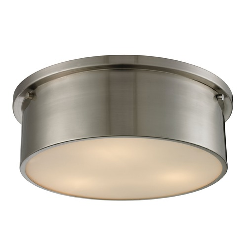 Elk Lighting Elk Lighting Simpson Brushed Nickel Flushmount Light 11821/3