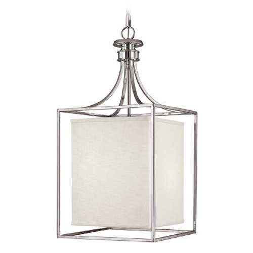 Capital Lighting Capital Lighting Midtown Polished Nickel Pendant Light with Rectangle Shade 9041PN-472