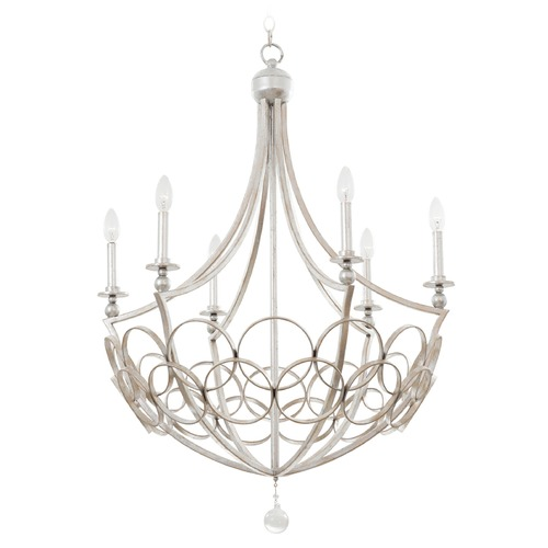 Kalco Lighting Kalco Loveland Gold Silver Leaf Chandelier 501771GSL