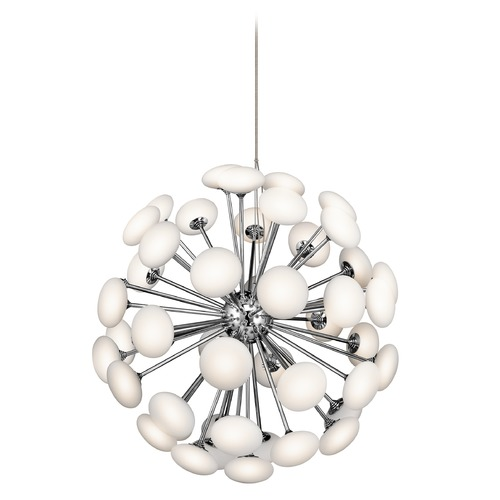 Elan Lighting Elan Lighting Kotton Chrome LED Pendant Light 83279