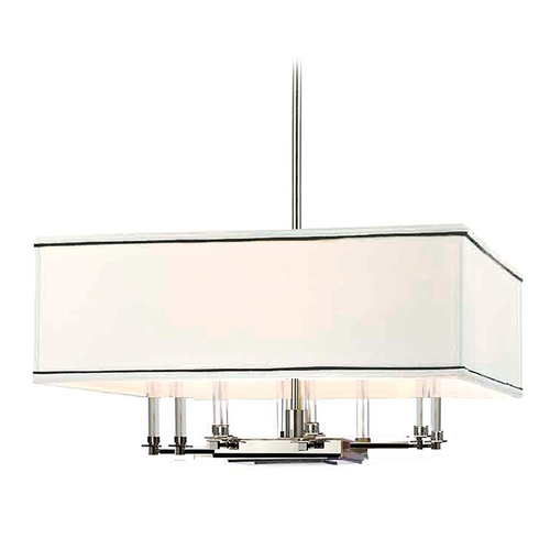 Hudson Valley Lighting Modern Pendant Light with White Shades in Polished Nickel Finish 2924-PN