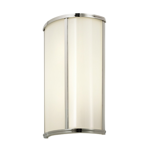 Sonneman Lighting Sconce Wall Light with White Glass in Polished Nickel Finish 1991.35