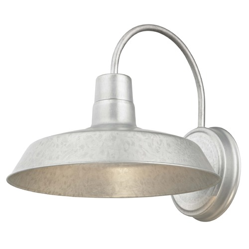 Design Classics Lighting RLM Galvanlized Outdoor Wall Light - 12-Inch Wide 663-GAL