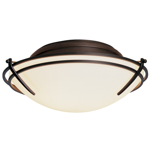Hubbardton Forge Lighting Two-Light Flush Mount Ceiling Light 124402-07-G98