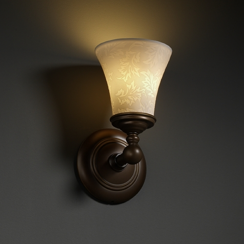Justice Design Group Justice Design Group Limoges Collection Sconce POR-8521-20-LEAF-DBRZ