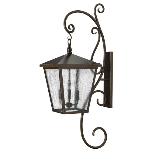 Hinkley Lighting Outdoor Wall Light with Clear Glass in Regency Bronze Finish 1439RB