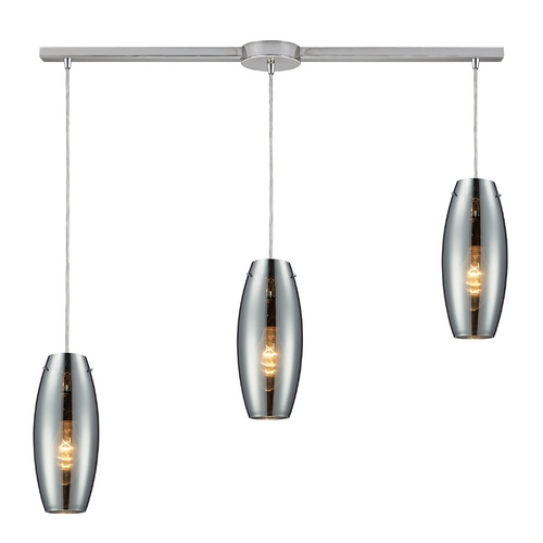Elk Lighting Multi-Light Pendant Light with Mercury Glass and 3-Lights 60064-3L