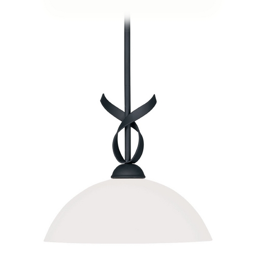 Livex Lighting Livex Lighting Brookside Black Pendant Light with Bowl / Dome Shade 4770-04