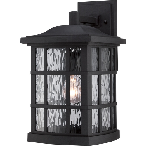 Quoizel Lighting Quoizel Stonington Mystic Black Outdoor Wall Light SNN8409K