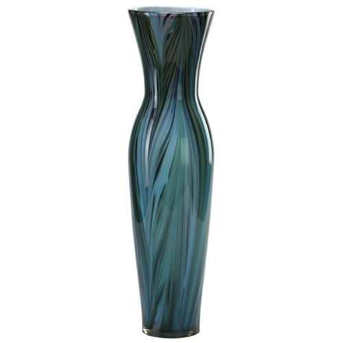 Cyan Design Cyan Design Peacock Feather Multi Colored Blue Vase 02921