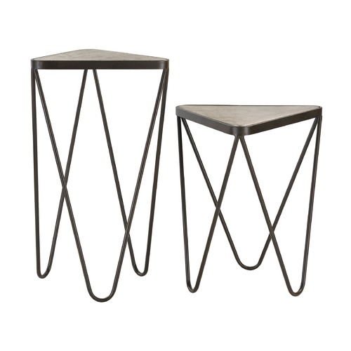 Sterling Lighting Set of 2 Angular Side Tables 51-002/S2