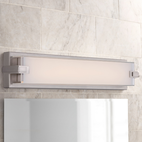 Quoizel Lighting Dash Linear LED Bathroom Light in  Brushed Nickel PCDH8522BN