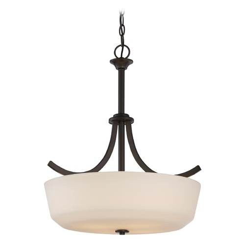 Nuvo Lighting Nuvo Lighting Laguna Aged Bronze Pendant Light with Bowl / Dome Shade 60/5927
