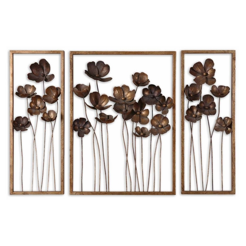 Uttermost Lighting Modern Wall Art in Antique Gold Leaf Finish 12785