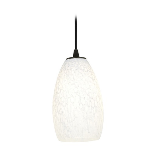 Access Lighting Modern Mini-Pendant Light with White Glass 28012-2C-ORB/WHST