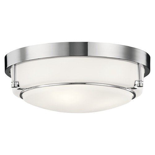 Kichler Lighting Transitional Flushmount Light Chrome Belmont by Kichler Lighting 44089CH