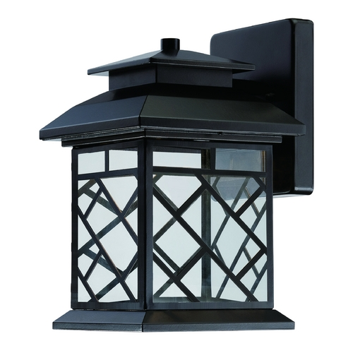 Designers Fountain Lighting LED Outdoor Wall Light with Clear Glass in Oil Rubbed Bronze Finish LED22321-ORB