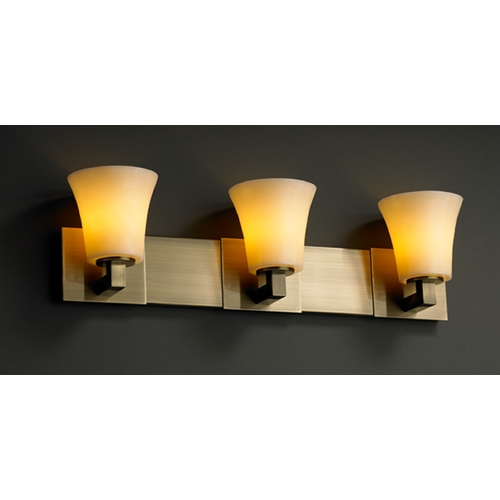 Justice Design Group Justice Design Group Candlearia Collection Bathroom Light CNDL-8923-20-AMBR-ABRS