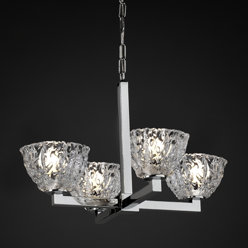 Justice Design Group Justice Design Group Veneto Luce Collection Chandelier GLA-8829-36-CLRT-CROM