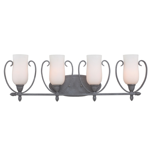 Kalco Lighting Kalco Lighting Mateo Flecked Iron Bathroom Light 7234FI/OPAL