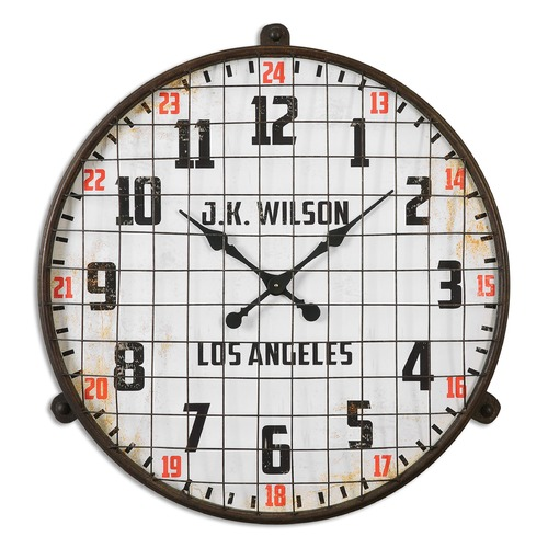 Uttermost Lighting Uttermost Max Aged Wall Clock 06424