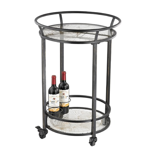 Sterling Lighting World Map Bar Cart 51-021
