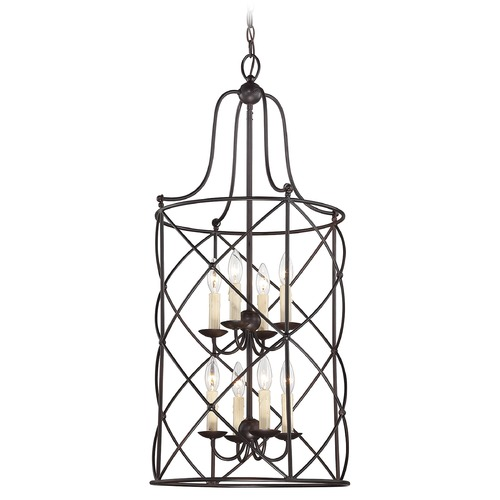 Savoy House Savoy House English Bronze Pendant Light with Cylindrical Shade 3-4071-8-13