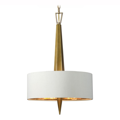 Uttermost Lighting Uttermost Obeliska 3 Light Gold Pendant 21264
