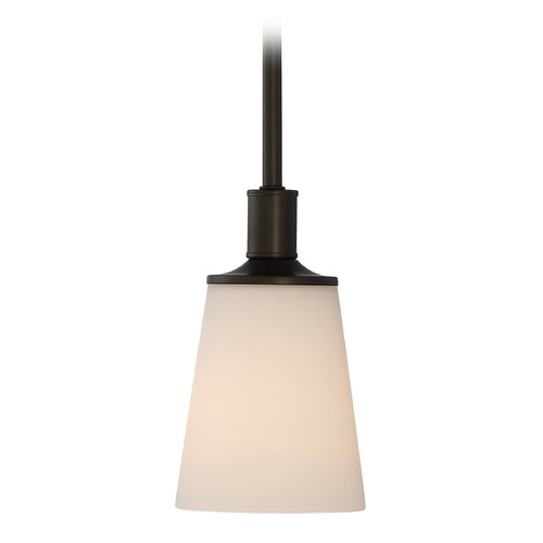 Nuvo Lighting Nuvo Lighting Laguna Aged Bronze Mini-Pendant Light with Coolie Shade 60/5928
