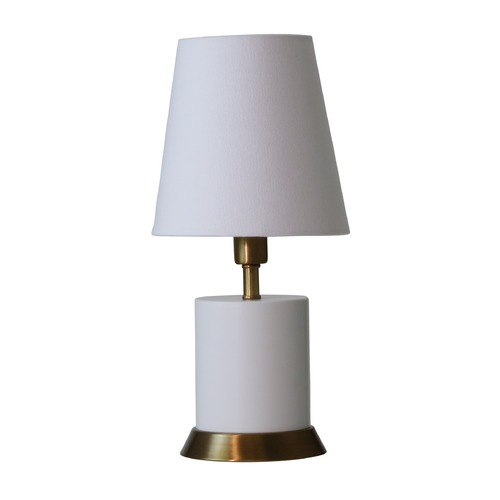 House of Troy Lighting House of Troy Geo White with Weathered Brass Accents Accent Lamp GEO306