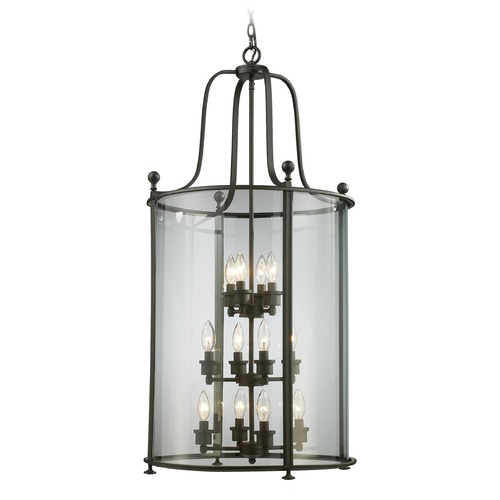 Z-Lite Z-Lite Wyndham Bronze Pendant Light with Cylindrical Shade 135-12