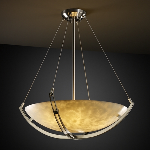 Justice Design Group Justice Design Group Clouds Collection Pendant Light CLD-9721-35-NCKL