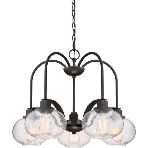 Quoizel Lighting Industrial Edison Bulb Chandelier Bronze 26-Inch by Quoizel Lighting TRG5105OZ