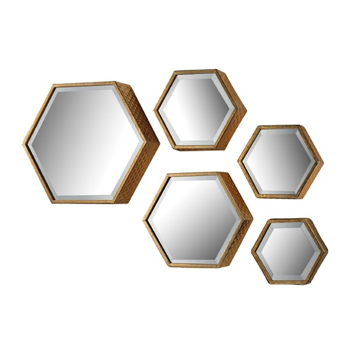 Sterling Lighting Set of 5 Hexagonal Mirrors 138-170/S5