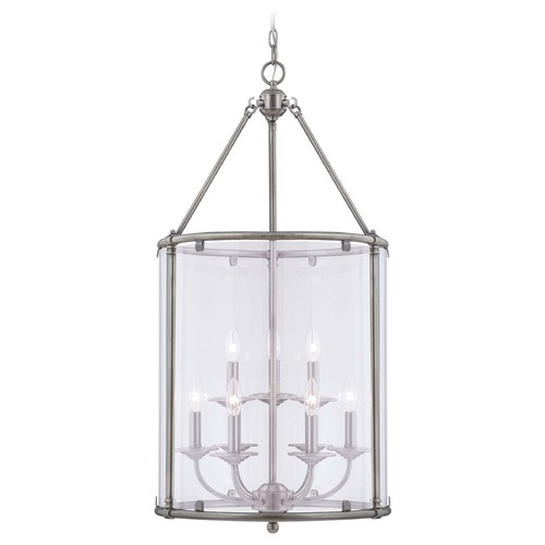 Savoy House Savoy House Brushed Pewter Pendant Light with Cylindrical Shade 3-4152-9-187