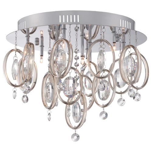 Quoizel Lighting Quoizel Platinum Collection Ella Polished Chrome Flushmount Light PCEL1616C