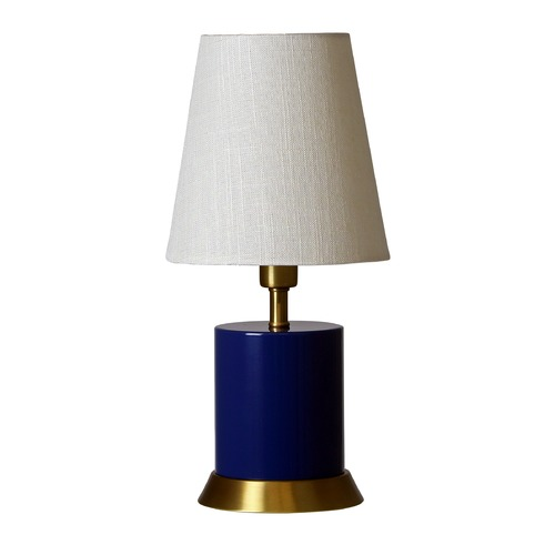 House of Troy Lighting House of Troy Geo Navy Blue with Weathered Brass Accents Accent Lamp GEO309
